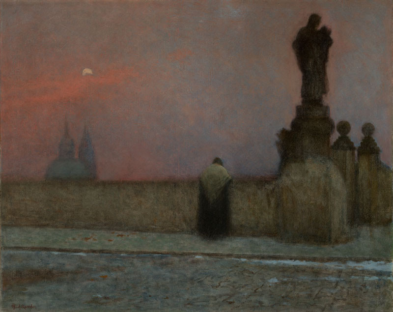 Jakub Schikaneder - Early Evening at Hradčany