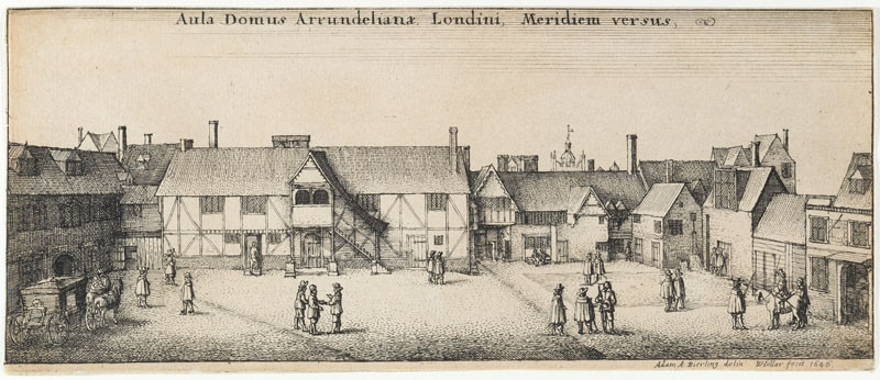 Wenceslaus Hollar, Adam Bierling - draughtsman - Arundel's House from the South