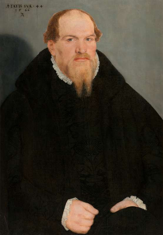 Lucas Cranach the Younger - Portrait of a forty-four-year-old man