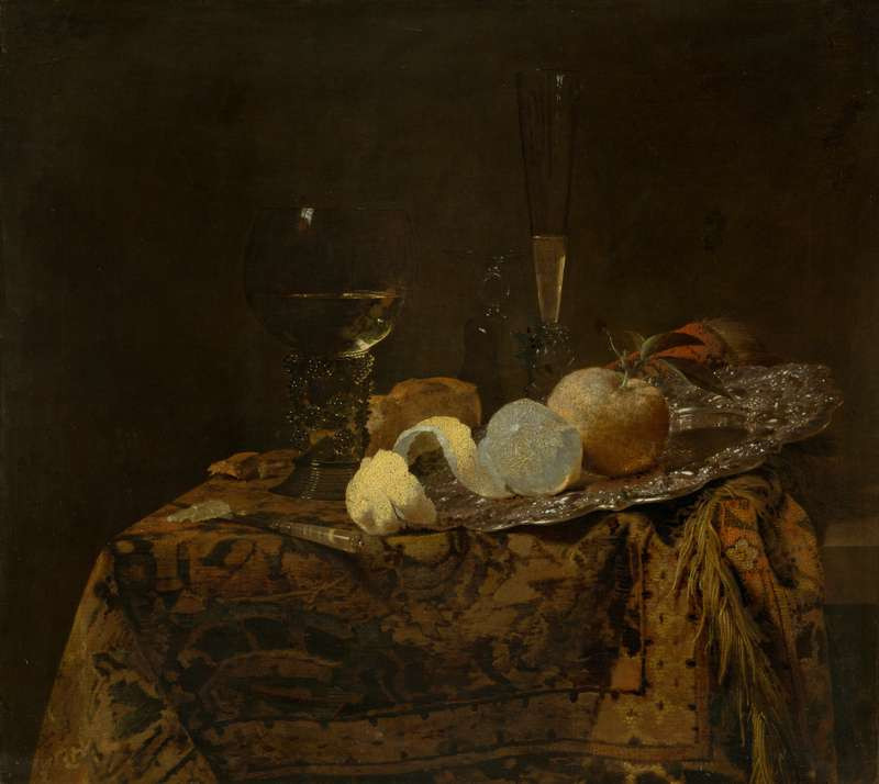 Willem Kalf - Still Life with Glass Goblets and a Lemon