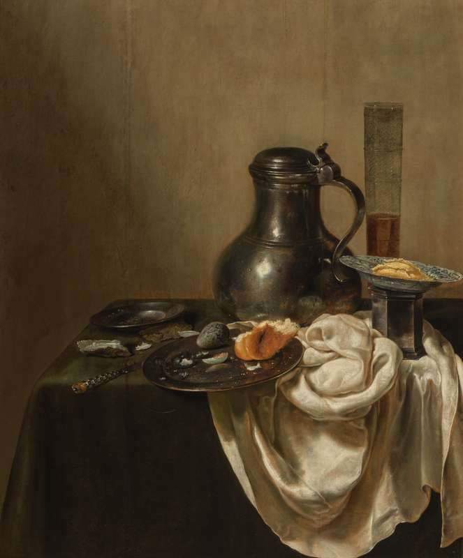 Jan Jansz. den Uyl - Still Life with a Pewter Jug