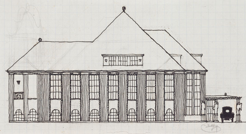 Josef Hoffmann - Preparatory study of the Skywa-Primavesi villa, Vienna