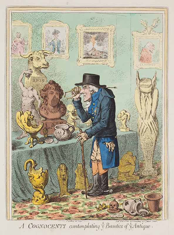 James Gillray - A Cognoscenti Contemplating the Beauties of the Antique